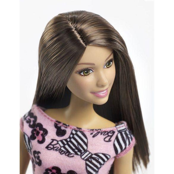 Papusa Barbie Clasica in rochita cu imprimeu text 2