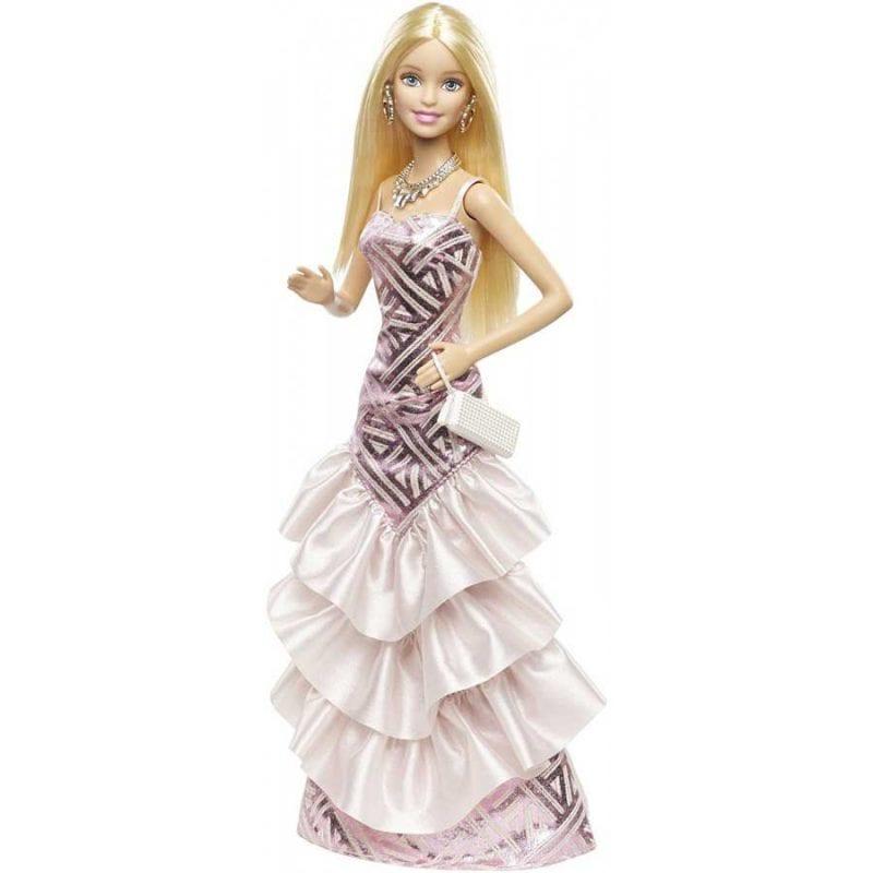 Papusa Barbie Fashionistas Gala - Flower Gown (Rochie cu imprimeu)