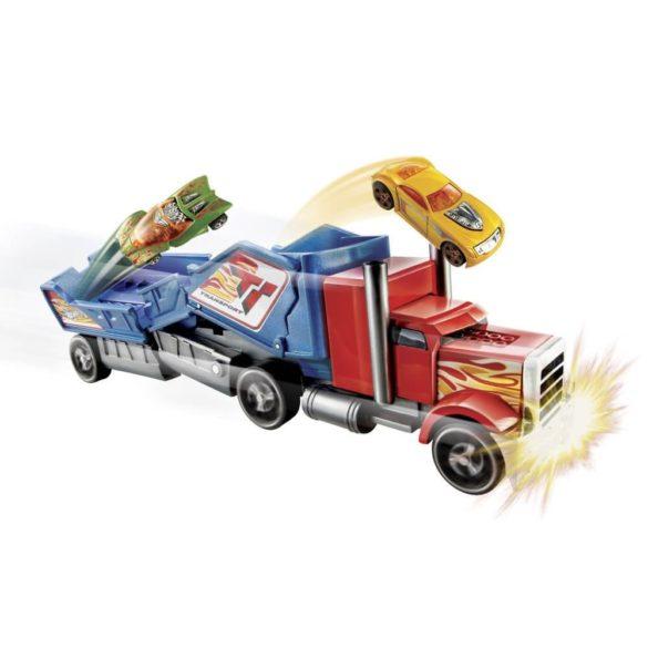Camion Hot Wheels de Ciocnit Rosu Albastru 3