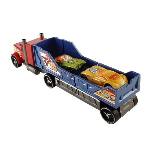 Camion Hot Wheels de Ciocnit Rosu Albastru 4