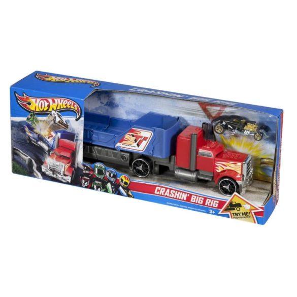 Camion Hot Wheels de Ciocnit Rosu Albastru 5