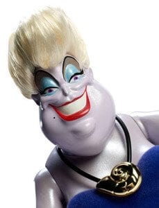 Disney Personaje Negative Papusa Ursula 2