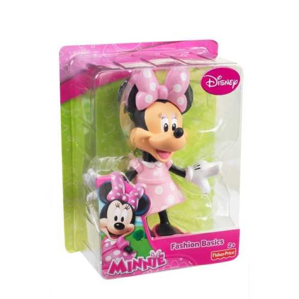 Figurina Fisher Price Minnie Mouse in rochita roz 2