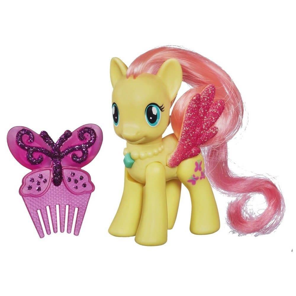 Figurina Ponei My Little Pony Fluttershy Perie Par Mici