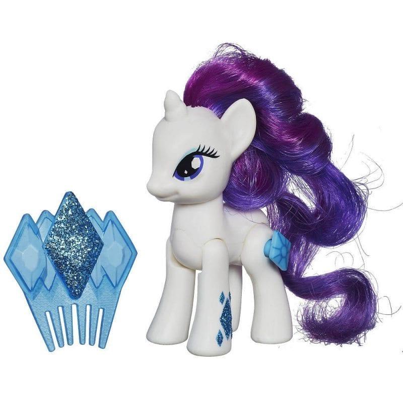 Figurina Ponei My Little Pony Rarity cu perie de par