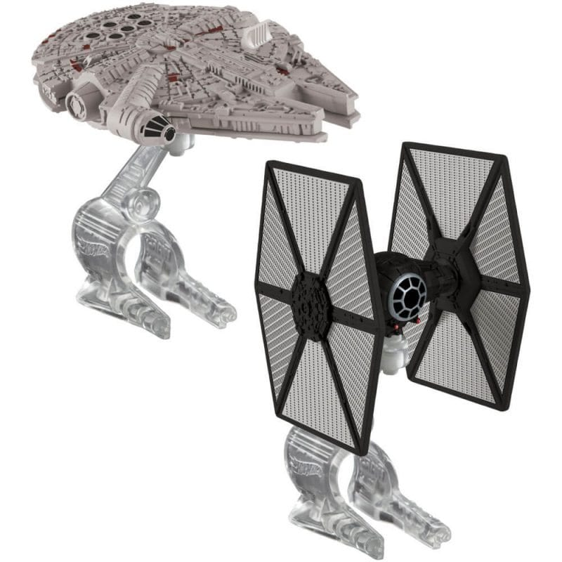Hot Wheels Star Wars Pachet Tie Fighter vs. Millennium Falcon