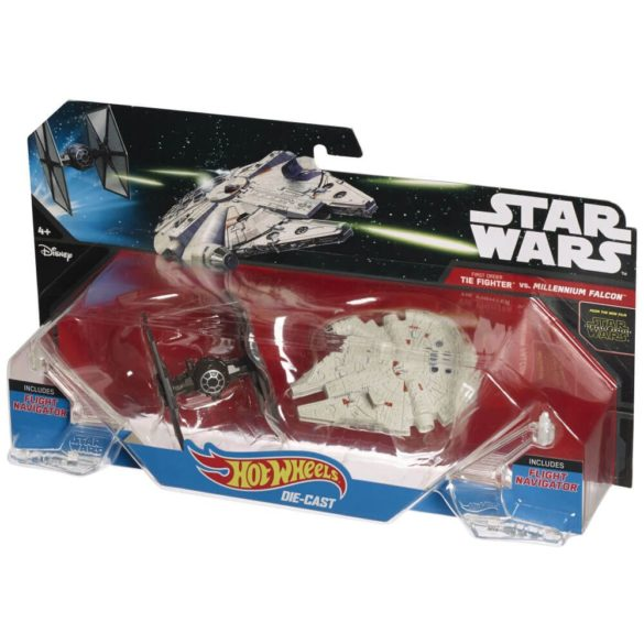 Hot Wheels Star Wars Pachet Tie Fighter vs. Millennium Falcon 2