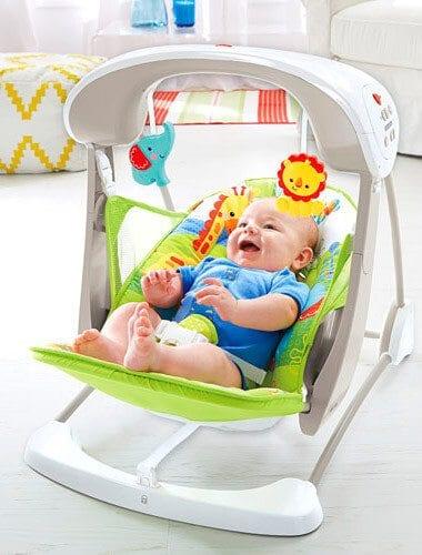 Leagăn şi scaun nou născuţi pliabil Fisher Price