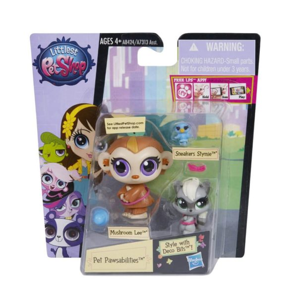 Littlest Pet Shop Mushroom Lee si Sneakers Stymie 2