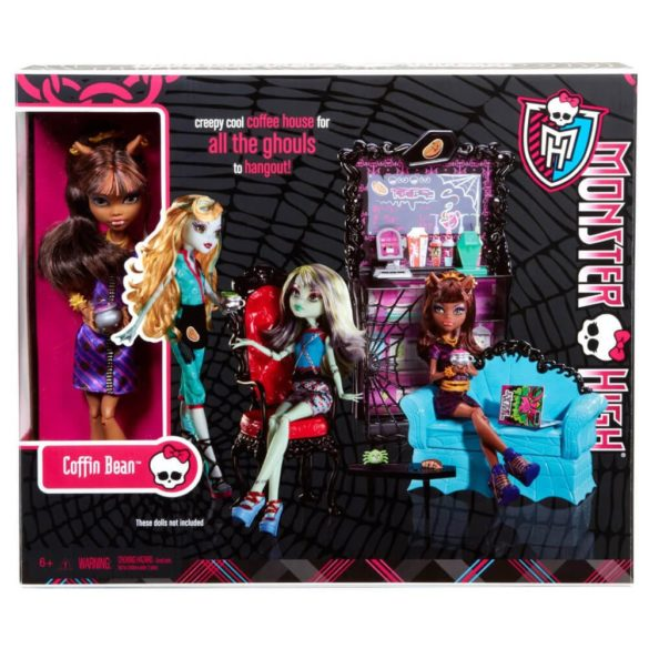 Monster High Cafeneaua Coffin Bean si Clawdeen Wolf 10