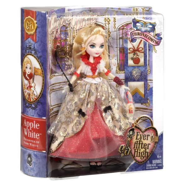 ever after high papusa apple white colectia thronecoming 6