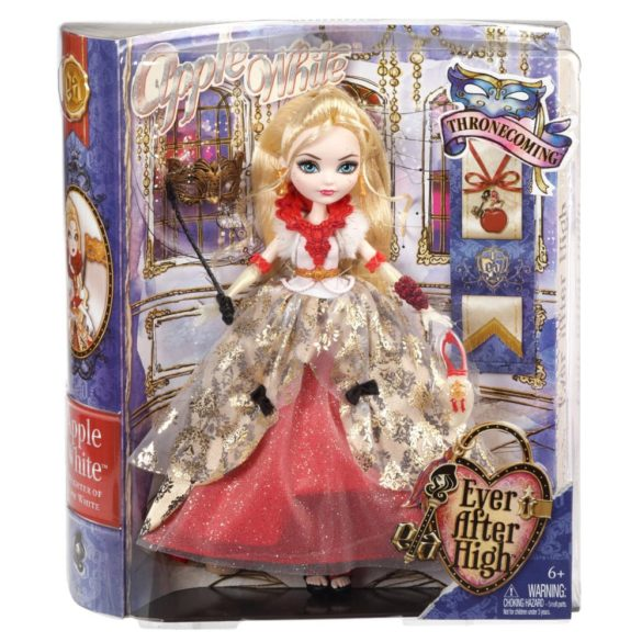 ever after high papusa apple white colectia thronecoming 7