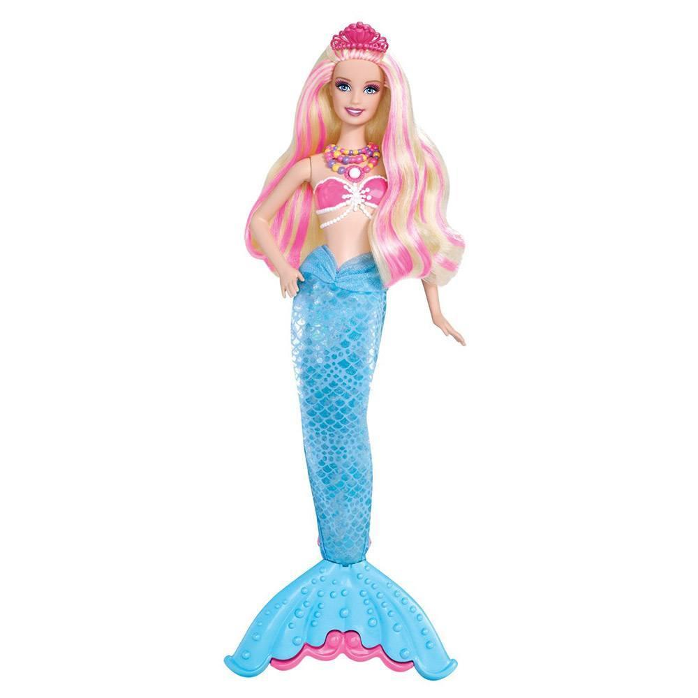 Papusa barbie printesa perlelor sirena lumina - Barbie sirene couleur ...