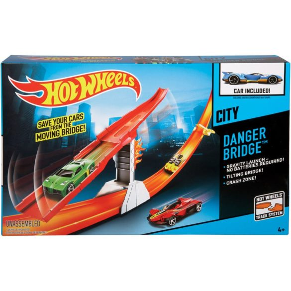 pista hot wheels city podul periculos 2