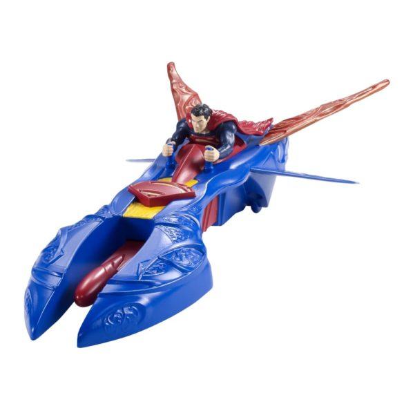 superman figurina si vehicul kryptonian interceptor 2