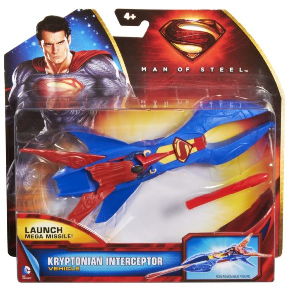 superman figurina si vehicul kryptonian interceptor 4