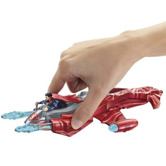 superman figurina si vehicul twin blaster jet 2