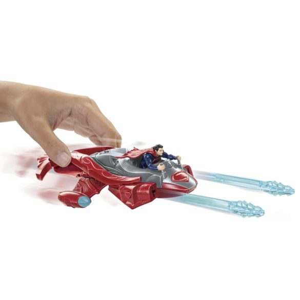 superman figurina si vehicul twin blaster jet 3