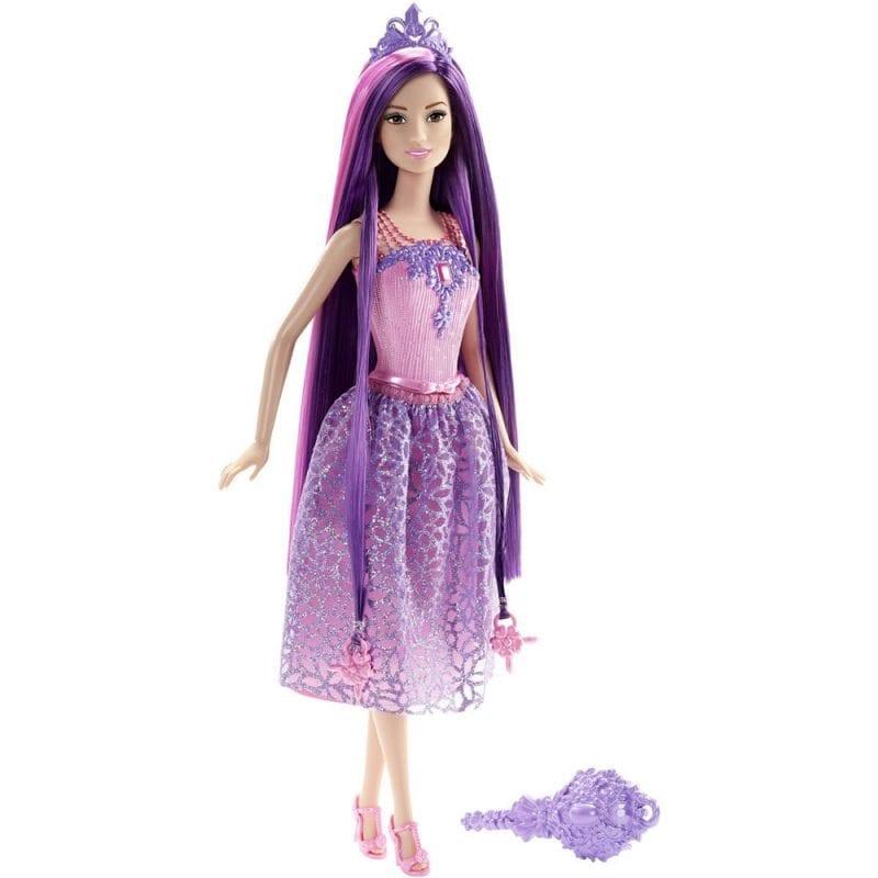 Barbie Regatul Parului fara Sfarsit Papusa Mov