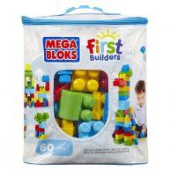 Mega Bloks Primele Cuburi de Construit Albastru