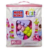 Mega Bloks Primele Cuburi de Construit Roz