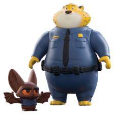 Zootropolis Set Figurine Clawhauser si Bat Eyewitness