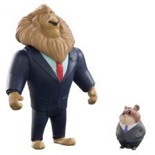 Zootropolis Set Figurine Mayor Lionheart si Lemming Businessman