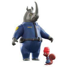Zootropolis Set Figurine McHorn si Safety Squirrel
