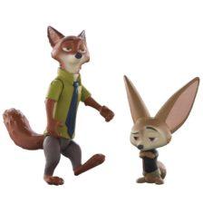 Zootropolis Set Figurine Nick si Finnick