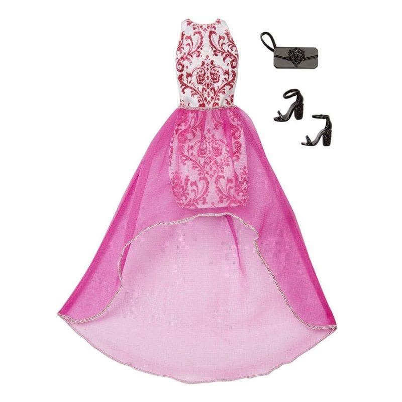 Hainute si Accesorii Papusa Barbie Pachet Roz