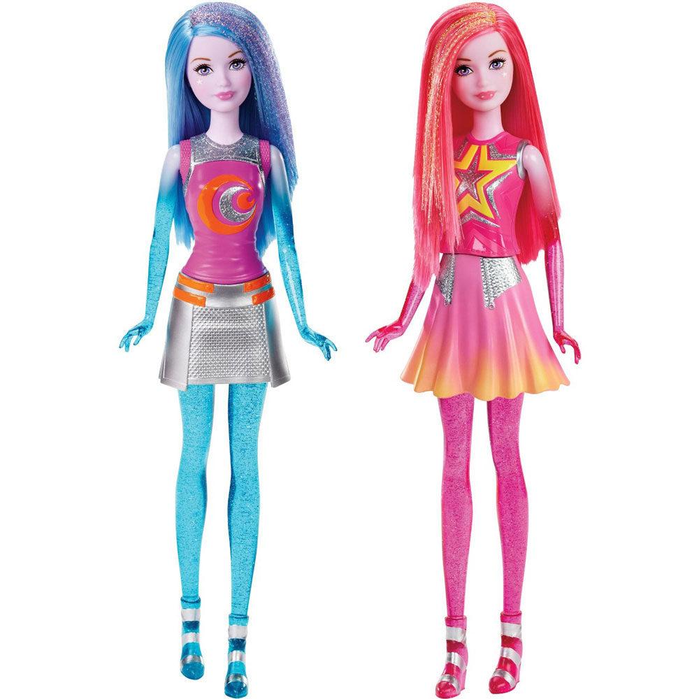 Barbie Star Light Adventure Papusa Albastra / Roz