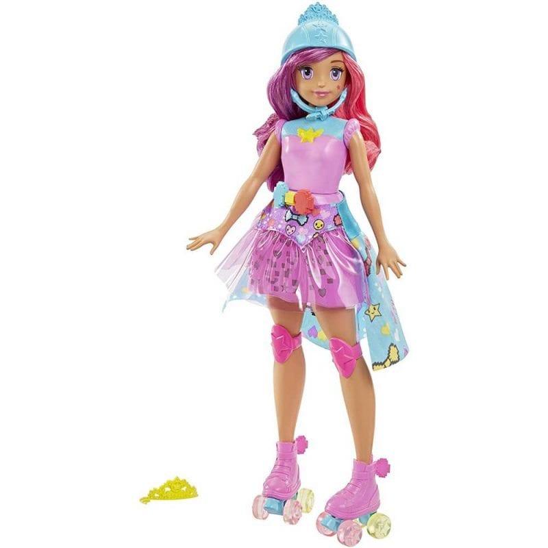 Papusa Barbie Eroul Jocurilor Video Printesa cu Parul Roz