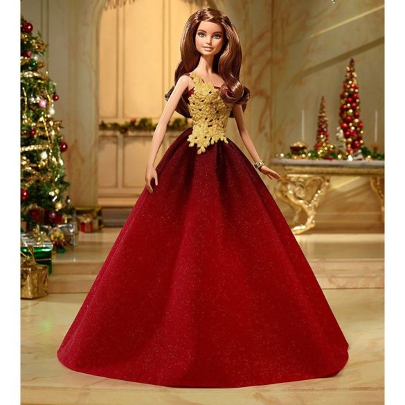 Papusa Barbie de Colectie in Rochie Rosie 2016 5