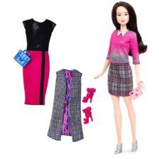 Papusa Barbie Fashionistas cu Accesorii 36 Chic si cu un Pupic Dulce