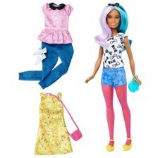 Papusa Barbie Fashionistas cu Accesorii 42 Parul Albastru si Violet