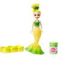 Barbie Dreamtopia Papusa Sirena Galbena cu Baloane de Sapun