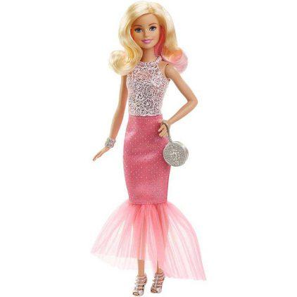 Papusa Barbie in Rochita Roz si Fabuloasa