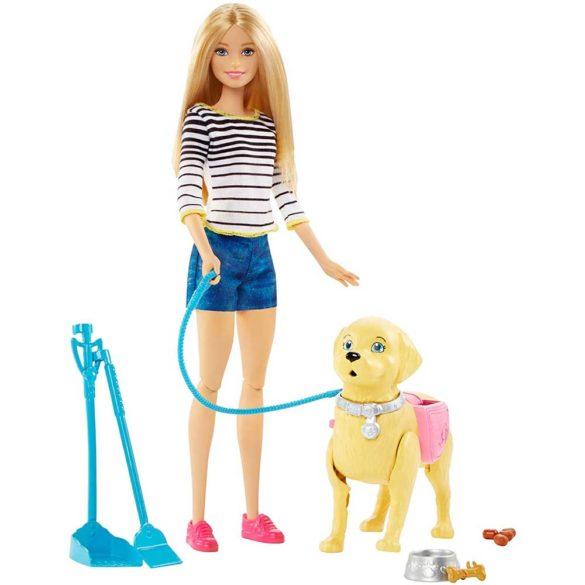 Papusa Barbie si Catelusul cu Accesorii