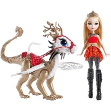 Ever After High Papusa Apple White cu Dragon