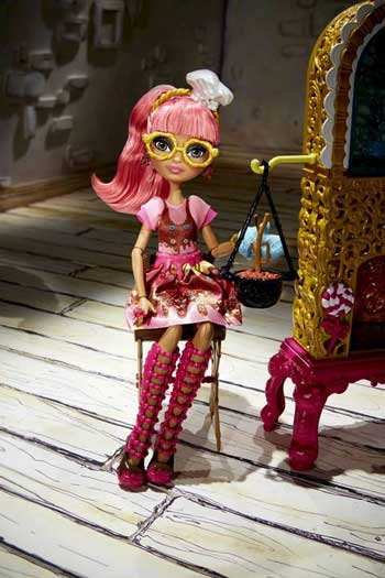 Ever After High Papusa Ginger si Casuta din Turta Dulce