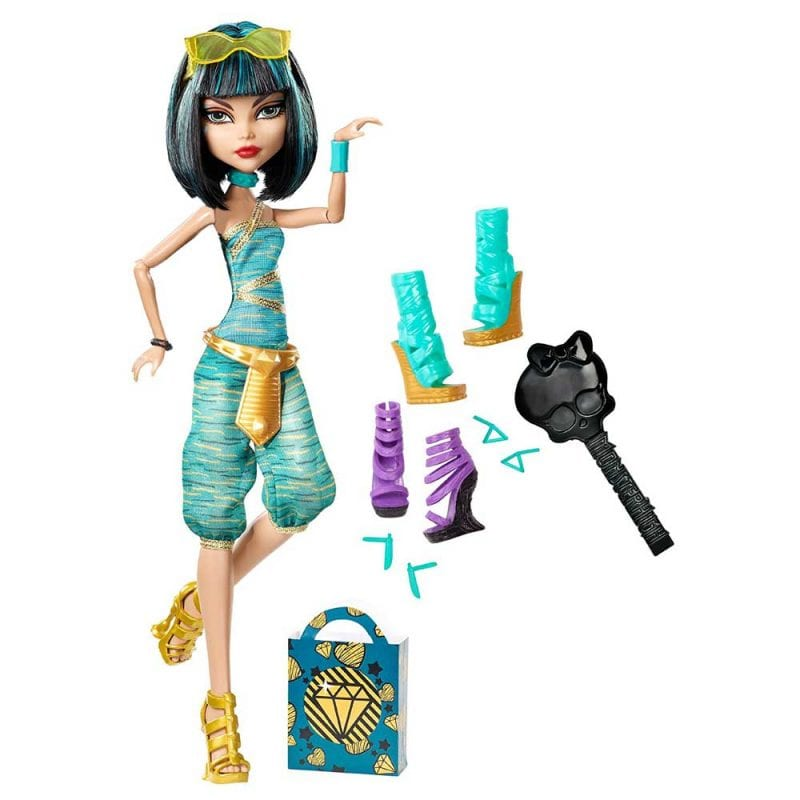 Monster High Papusa Cleo de Nile si Colectia de Pantofi