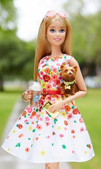 Papusa The Barbie Look - Black Label - Plimbarea in Parc