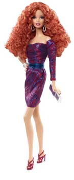 Papusa de Colectie Barbie Look City Shine Roscata