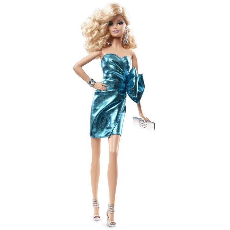 Papusa de Colectie Barbie Look City Shine Rochita Albastra