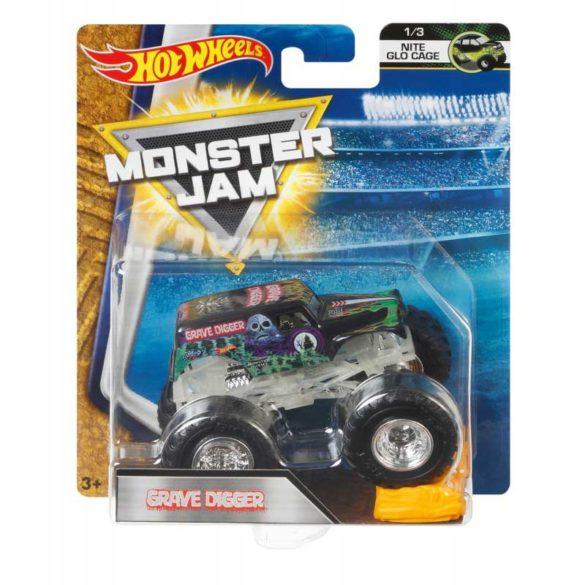 Masinuta Monster Jam Grave Digger cu Obstacol 12