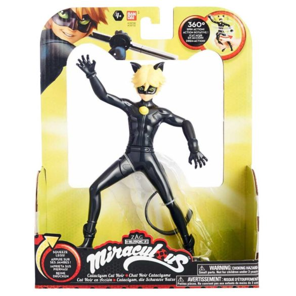 Miraculous Papusa Figurina Cataclysm Cat Noir 4