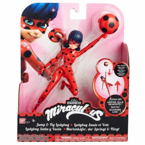 Miraculous Papusa Figurina Jump and Fly Ladybug 6