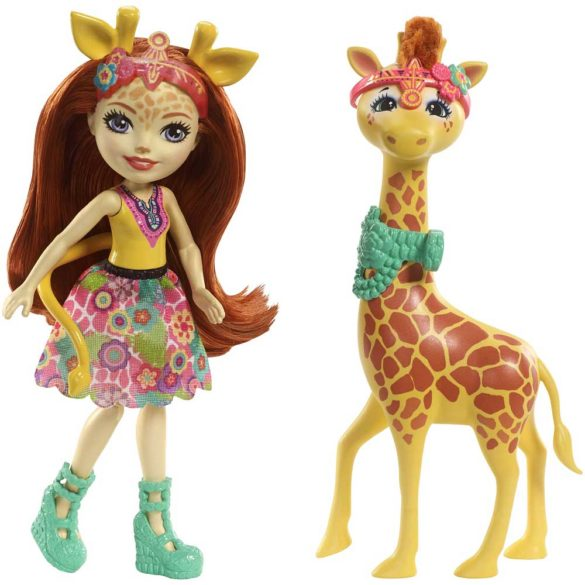 Enchantimals Papusa Gillian Giraffe si Girafa Pawl 1
