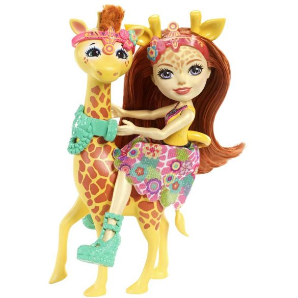 Enchantimals Papusa Gillian Giraffe si Girafa Pawl 3