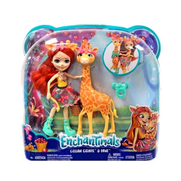 Enchantimals Papusa Gillian Giraffe si Girafa Pawl 7